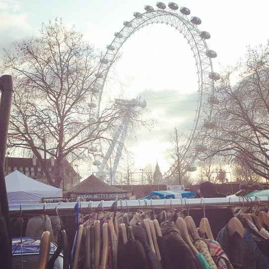 Vintage Classic Carboot Sale Southbank March 2015 Lulu Williams Fashion Blog London