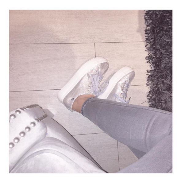 Silver Flatform Trainers Shoes Oaks Clothing leeds Fashion blogger